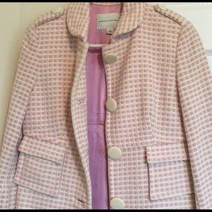 Banana republic pink tweed coat!